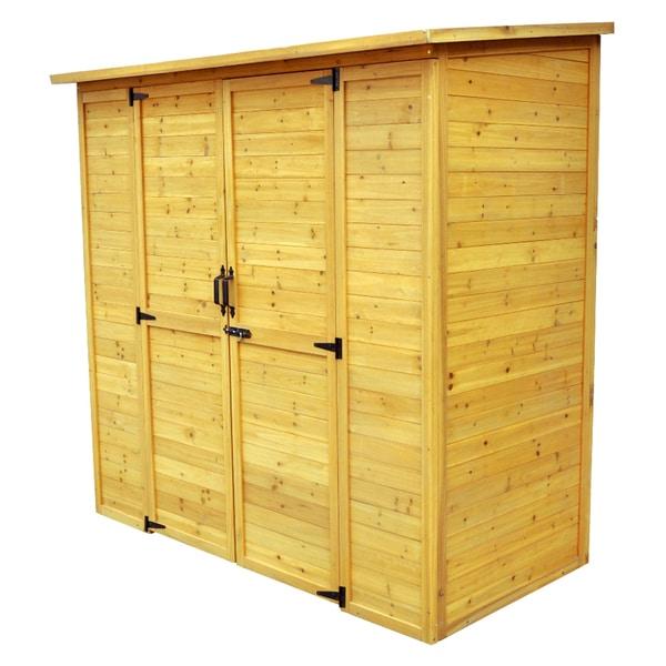 Leisure Season Extra Large Wood Storage Shed