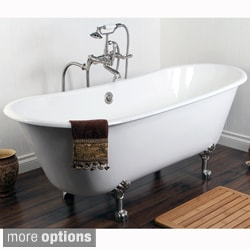Double Slipper 67-inch Cast Iron Clawfoot Bathtub