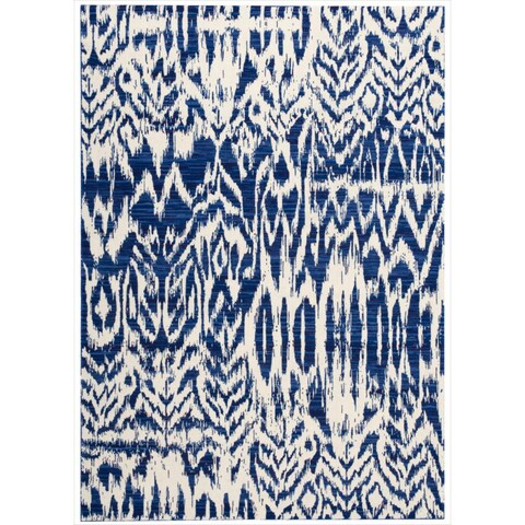 "Barclay Butera Kaleidoscope Caravan Blue Area Rug by Nourison - 5'3"" x 7'5"""