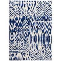Barclay Butera Kaleidoscope Caravan Blue Area Rug by Nourison (5'3 x 7'5) - 5'3 x 7'5