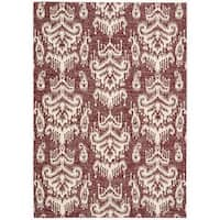 Barclay Butera Kaleidoscope Crimson Area Rug by Nourison - 7'9 x 10'10