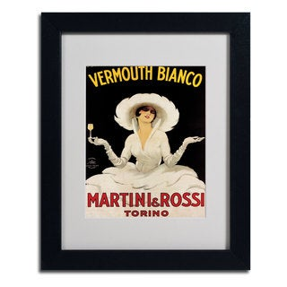 Marcello Dudovich 'Vermouth Bianco Martini & Rossi' Framed Giclee Print Matted Art