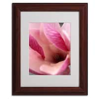 Kathy Yates 'Tulip Magnolia Blossom' Framed Matted Art
