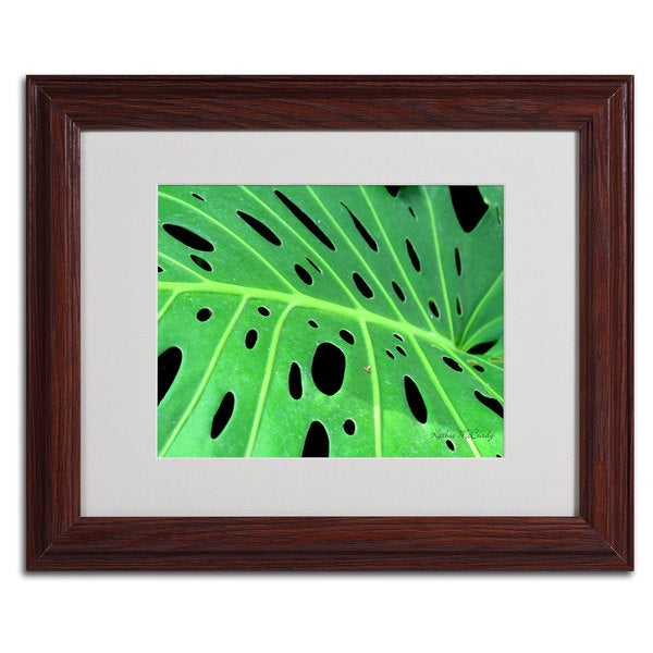 kathie mccurdy tropical leaf horizontal framed matted art free