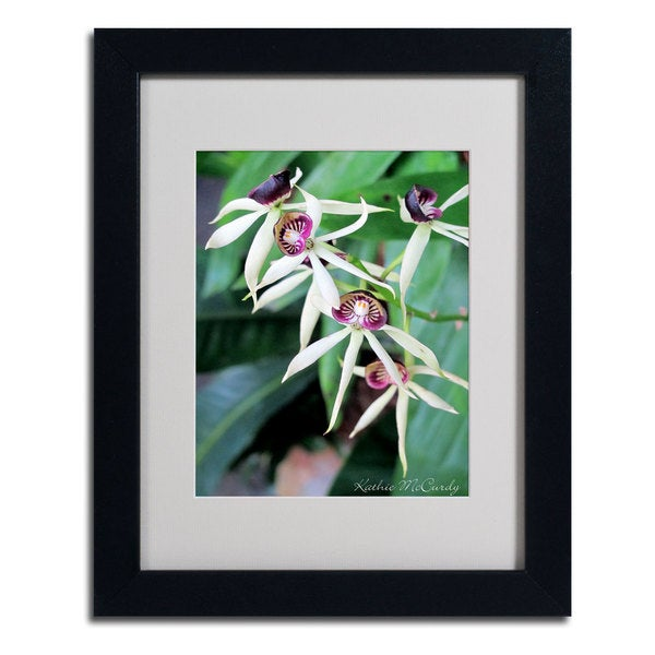 Kathie McCurdy 'Orchids lI' Framed Matted Art