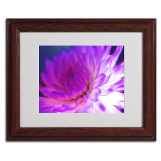 Kathy Yates 'Mod Dahlia' Framed Giclee Print Matted Art