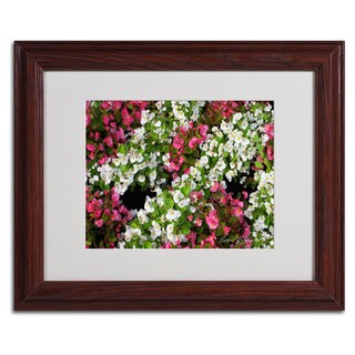 Kathie McCurdy 'Begonia Garden' Framed Giclee Print Matted Art