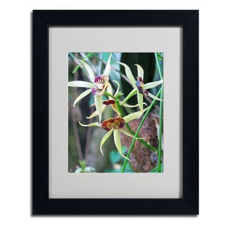 Kathie McCurdy 'Orchids I' Framed Matted Art