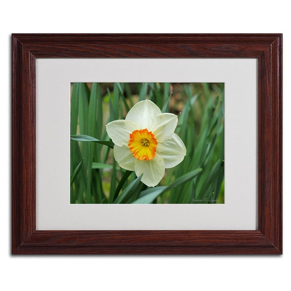 Kathie McCurdy 'Furnace Run Daffodil' Framed Matted Art