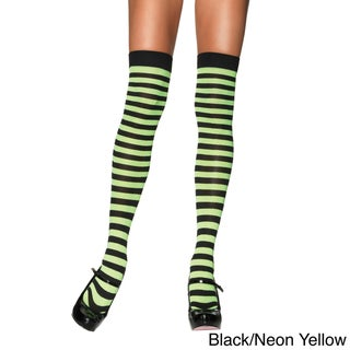 Leg Avenue Over-the-knee Nylon Striped Stockings