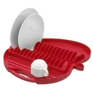 Jovi Home Red Apple Shaped Dish Rack