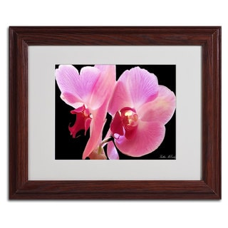 Kathie McCurdy 'Orchid' Framed Mattted Art