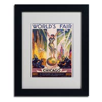Glen Sheffer 'World's Fair Chicago' Framed Matted Art - Multi