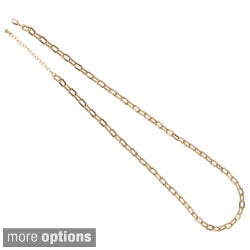 NEXTE Jewelry Silvertone or Goldtone 'Anchor Box' Chain Necklace