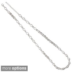 NEXTE Jewelry Silvertone or Goldtone 'Lynx' Chain Necklace