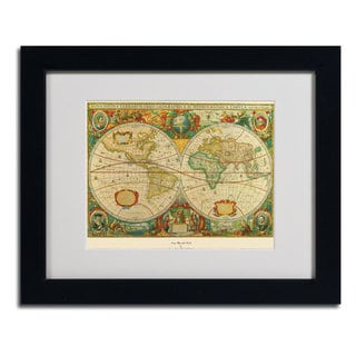 'Old World Map Painting' Cityscape Framed Matted Art