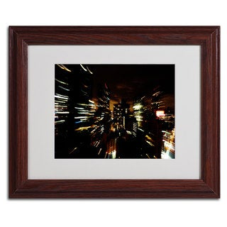 Ariane Moshayedi 'City Lightshow' Horizontal Framed Matted Art