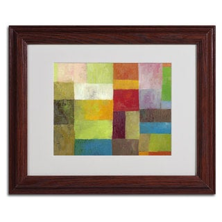 Michelle Calkins 'Abstract Color Panels 4' Horizontal Framed Matted Art