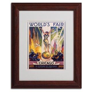 Glen Sheffer 'World's Fair Chicago' Cityscape Framed Matted Art
