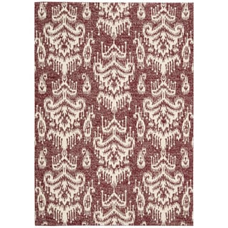 Barclay Butera Kaleidoscope Crimson Area Rug by Nourison (3'6 x 5'6)
