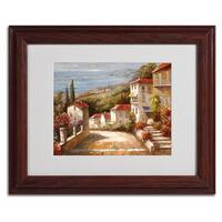 Joval 'Home In Tuscany' Horizontal Framed Matted Art
