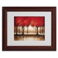 Rio 'Parade of Red Trees' Framed Matted Art
