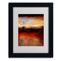 Michelle Calkins 'Red Skies at Night' Framed Matted Art