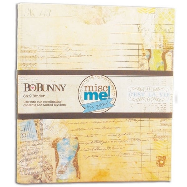 misc me 39 c 39 est la vie 39 8 x 9 inch binder life journal free shipping on orders over 45. Black Bedroom Furniture Sets. Home Design Ideas