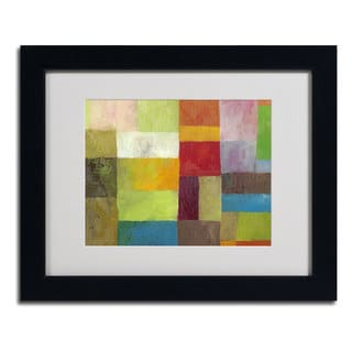 Michelle Calkins 'Abstract Color Panels 4' Framed Matted Art