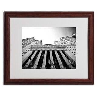 Yale Gurney 'The New York Stock Exchange' Framed Matted Art