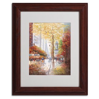 Joval 'French Street Scene II' Vertical Framed Matted Art