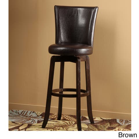 Copper Grove Glenariff Faux Leather Swivel Stool