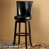 Elegant Swivel Leather Barstool Free Shipping Today