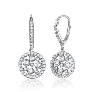 Collette Z Sterling-Silver Cubic-Zirconia High-Polish Round Drop Earrings