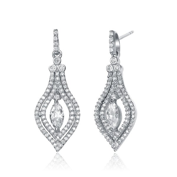 Collette Z Sterling Silver Cubic Zirconia Fancy Earrings
