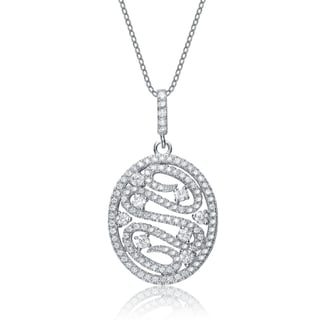 Collette Z Sterling Silver Cubic Zirconia Oval-shape Necklace