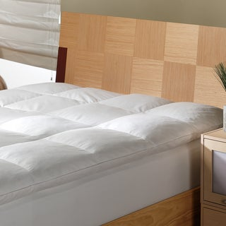 White Goose 3 Inch Featherbed with Removable Cotton Cover