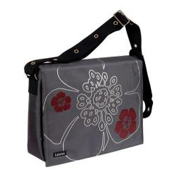 Women's Laurex 17in Laptop Messenger Bag Steal Petal/Gun Metal ...