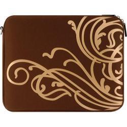 Women's Laurex 14in Laptop Sleeve Gold Wave/Dark Brown