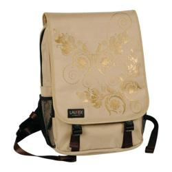 Women's Laurex 15.6in Laptop Computer Backpack Beige Butterfly