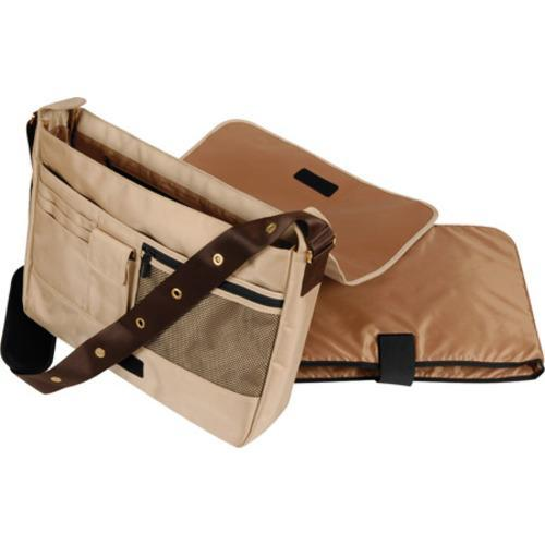 Women's Laurex 17in Laptop Messenger Bag Beige Butterfly - Free ...