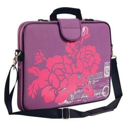 Women's Laurex 17in Laptop Sleeve Purple Hibiscus