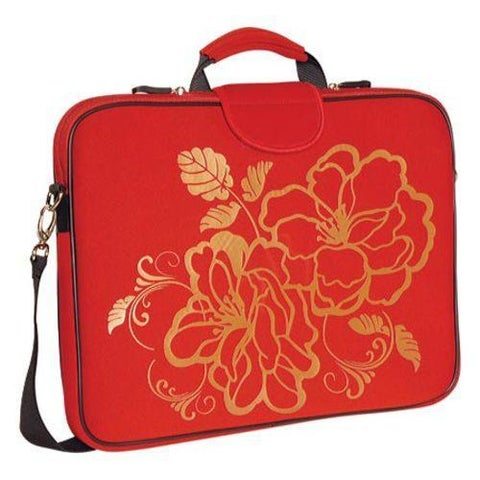 Women's Laurex 17.3in Laptop Sleeve Red Camellia
