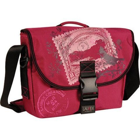 Women's Laurex Small Slim Messenger Bag Cherry Stamp