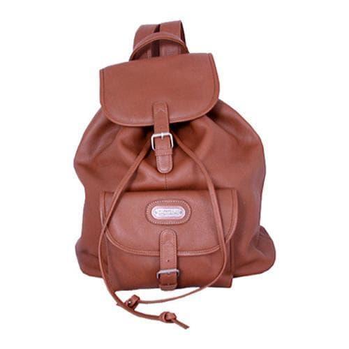Women's Leatherbay Single Pocket Leather Backpack Tan