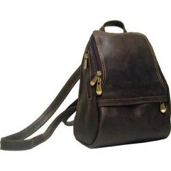 LeDonne Chocolate Distressed Leather Backpack