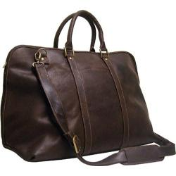 LeDonne Chocolate Distressed Leather Duffel Bag