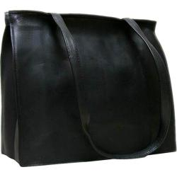 Women's LeDonne H-05b Black Leather Tote Bag