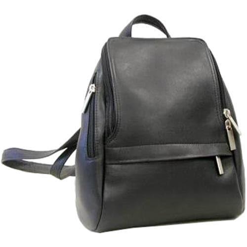 LeDonne Black Leather Backpack