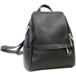 LeDonne Black Leather Backpack